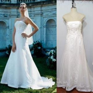 David's bridal Strapless corset back Gown dress
